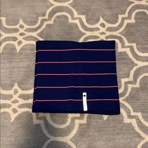 EUC lululemon vinyasa scarf. Blue/orange stripe.